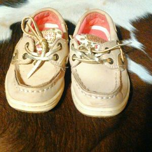 Sperry Shoes - Little Girls pink and leopard sperrys